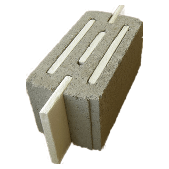 "Al Manaratain 8"" RAK Slotted Insulation Concrete Block"