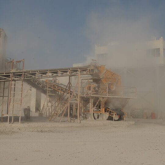 Al Manaratain Crusher Plant At Work