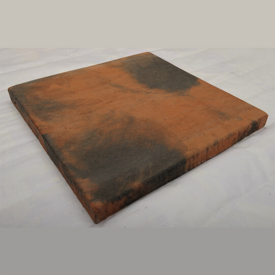 Orange & Black Square Concrete Paving Slab