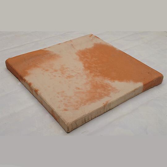 Orange & White Square Concrete Paving Slab