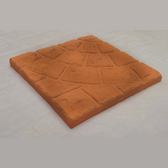 Orange Square Concrete Paving Slab