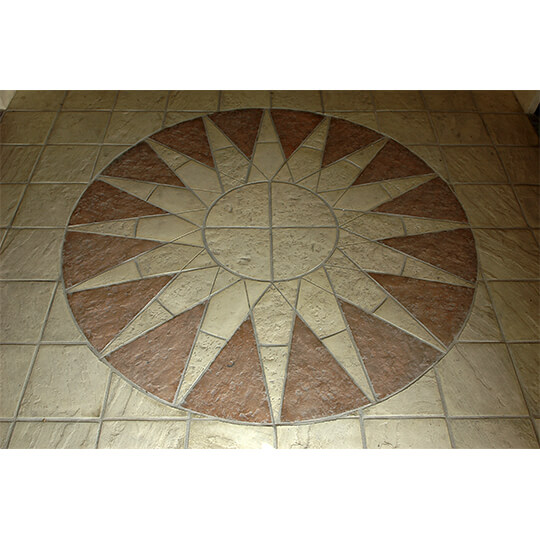 Sun Pattern made from artificial stone
