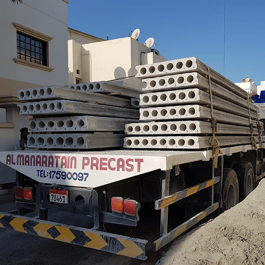 Precast Concrete Slabs on an Al Manaratain trailer