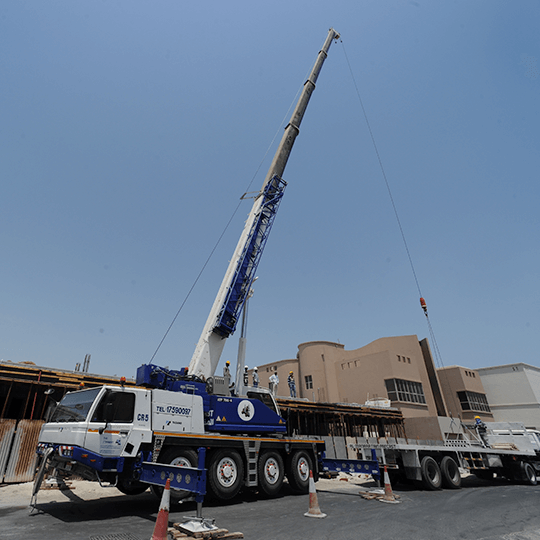 Precast Concrete Slabs being unloaded