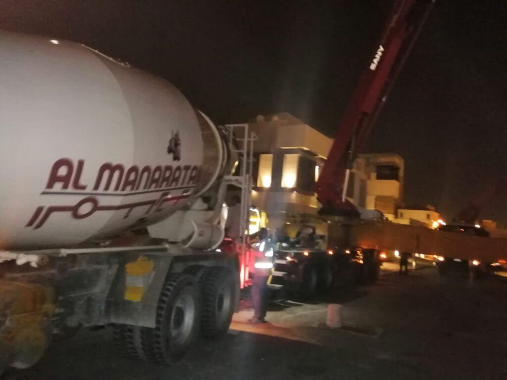 Ready Mix Truck At Night